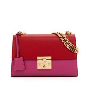 Gucci Padlock Leather Shoulder Bag in Pink